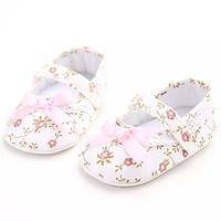 Giày tập đi búp bê cho bé gái 0-18 tháng phối nơ xinh xắn – TD19