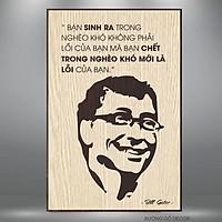 Tranh Treo Tường Bill Gates Trang Trí Văn Phòng Làm Việc Tạo Động Lực