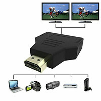 For HDMI 1-in-2 Out 1080P HDMI Splitter Adapter Converter For PS4 Xbox HDTV Projector