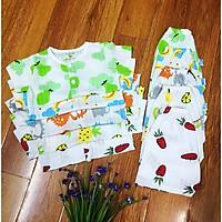 (Combo 5 bộ) Bộ quần áo cotton giấy sơ sinh cộc tay mỏng mát mặc mùa hè - MS18