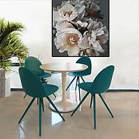 Bộ bàn tròn ghế ăn TE-tulip 08S đường kính tròn 800 và 4 ghế Ca-mel cao cấp hcm