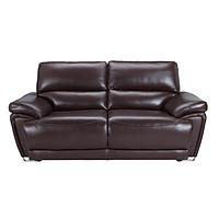 SOPRANO Sofa Da 2 Chỗ 190x101x95 cm Màu Nâu
