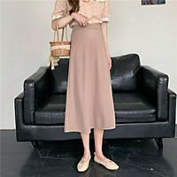 Chân váy nữ dáng dài công sở chun lưng 3 màu cá tính