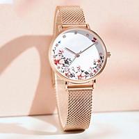 Đồng hồ nữ dây kim loại Aborni Hoa Thanh Lịch