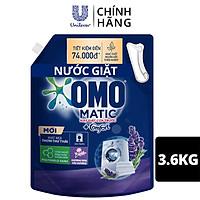 Nước giặt OMO Matic chuyên dụng Cửa Trước Lavender Khử Mùi Thư Thái 3.6kg