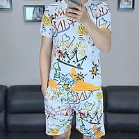 Bộ quần áo nam vải thun,bộ thể thao,bộ mặc nhà nam in họa tiết 3D-05