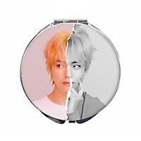 Gương mini V BTS gương trang điểm tròn hai mặt