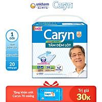 Tấm Đệm Lót Siêu Thấm Caryn (20 Miếng) + Tặng thêm 1 bịch khăn ướt Caryn 70 miếng