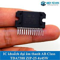 IC khuếch đại âm thanh Class AB TDA7388 ZIP-25 4x45W Mới
