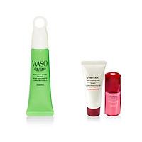 Bộ sản phẩm Kem lót trang điểm Shiseido WASO Poreless Matte Primer 20ml-15616