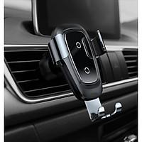 Giá đỡ kiêm sạc điện thoại không dây oto, xe hơi (Chuẩn QI) dành cho iPhone 8 11 X Samsung (Cắm điều hòa)