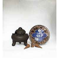 Combo 1 Hộp Nụ Bồ Kết MARIN + 1 Bình Xông Gốm Bát Tràng - Hương Sạch MARIN