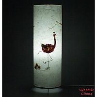 Đèn giấy dó hoa hồng hạc, đèn trang trí nội thất, đèn để bàn phòng ngủ hàng chính hãng,