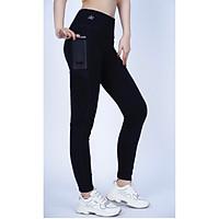 Quần legging dài thể thao nữ phối lưới túi hông - QD6
