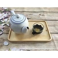 Khay trà gỗ, khay gỗ đựng ấm chén trà đơn giản loại to, khay gỗ hình chữ nhật đựng đồ ăn, thực phẩm