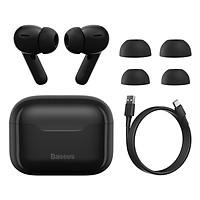 Tai nghe TWS chống ồn chủ động Baseus SIMU ANC S1 Pro True Wireless Earphone (Chống ồn chủ động, Xuyên Âm, Hi Fi/ Stereo, AAC/SBS, Dual Core DSP) - Hàng chính hãng