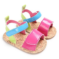 Summer Baby Girls Sweet Mixed Colors Newborn Infant Toddler Soft Soled PU Leather Princess Kids Sandal Shoes