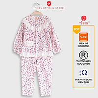 Bộ Đồ Ngủ Pijama Xinh Xắn Cho Bé Gái TIHON Thời Trang Trẻ Em Cao Cấp I Set082044