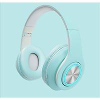 Tai nghe chụp tai Bluetooth 5.0 Iboom Macaron Hỗ Trợ Thẻ Nhớ, Dây 3.5mm, Đài FM - Hàng Nhập Khẩu