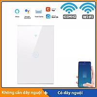 Công tắc Wifi mặt kính hỗ trợ remote thế hệ mới T.u.y.a HM21