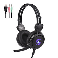 KUBITE T-591 Gaming Headset with Mic Over Ear Headphones Computer Headsets Noise Cancelling Earphone Audio Control for