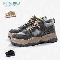 Giày Sneaker Nam Chunky Tăng Chiều Cao MINSU M3803 Giày Thể Thao Nam Độn Đế Flatform Hàn Quốc Cực Ngầu Khi Đi Học, Chơi, Du Lịch