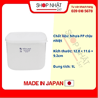 Hộp nhựa đựng thực phẩm White Pack 1L nội địa Nhật Bản