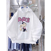 Áo Sweater Chất Liệu Nit Bông In Hoạ Tiết Phong Cách Hàn Quốc Popepy