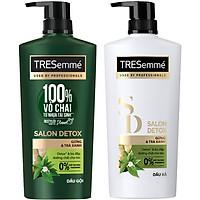 Combo Dầu Gội (640g) Và Dầu Xả (620g) Tresemmé Salon Detox Gừng Và Trà Xanh Detox Tóc Chắc Khỏe