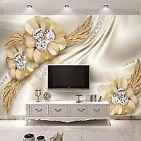 Tranh dán tường hoa trang sức TTS06(100x150cm)