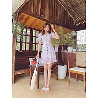 Đầm trắng hoa nút gỗ Zoe Dress Gem Clothing SP060290