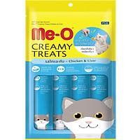 Đồ Ăn Mèo Me-O Bánh Thưởng Dạng Kem Vị Gà & Gan (60g)