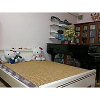 Chiếu hạt gỗ Pơ Mu hạt 18ly loại 1,6mx2m - Đồ dùng và thiết bị phòng ngủ dành cho mùa hè , Nệm bảo vệ sức khỏe , tạo giấc ngủ ngon - Vật phẩm phong thủy
