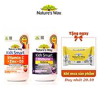 Combo 2 Viên Nhai Cho Bé Nature's Way Kids Smart Vitamin C+ZinC+D3 Và Immune Defence Bổ Sung Vitamin, Tăng Cường Miễn Dịch