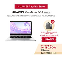 Máy Tính Xách Tay Laptop HUAWEI MateBook D14 AMD (R7 | 8GB/512GB) | Màn Hình HUAWEI Fullview 14-Inch | Card Đồ Họa RX Vega 10 Radeon | Phím Nguồn Kết Hợp Bảo Mật Vân Tay | Hàng Phân Phối Chính Hãng