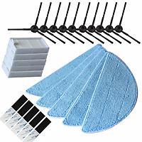 Side Brushes+Filter Screen+Mop Cloth+Adhesive for ilife v5s ilife v5 pro ilife x5 V3+ V5 V3 V5pro