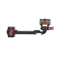 DF DIGITALFOTO GROOT II Gimbal Stabilizer Rotatable Extension Bracket with 1/4 Inch Screw Cold Shoe Mount Phone Clamp