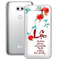 Ốp lưng điện thoại LG V30 - 01253 7930 LOC01 - in chữ thư pháp LỘC - Silicon dẻo - Hàng Chính Hãng
