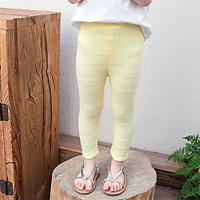 Quần legging dài mùa hè lỗ thoáng mát co giãn tiện lợi an toàn cho bé gái QATE20