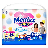 Tã quần Merries siêu thấm, mềm mịn size XXL26 (15~25kg) 26 miếng - Nội địa Nhật Bản