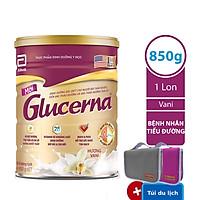 Sữa Bột Abbott Glucerna GLVLA Dành Cho Người Đái Tháo Đường Và Tiền Đái Tháo Đường (850g) - Tặng 1 Túi Du Lịch Tiện Lợi (Xám hoặc Hồng)