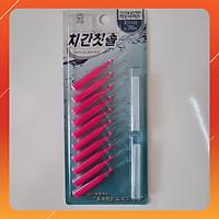 Vỉ 10 bàn chải kẽ răng SGS nhập khẩu Hàn Quốc (Size 3S 0.7mm)