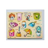 5 Bảng đồ chơi ghép gỗ có núm cho bé  Mã 028