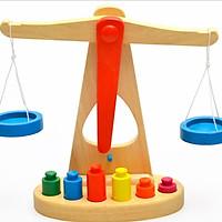 Cân học thăng bằng gỗ Montessori