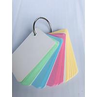 100 Thẻ Flashcard Màu Thái 5x8cm Kèm Khoen Bìa