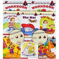 Scholastic Phonics Booster Books : Box Set Level 1 (Include 6 Books, 2 Workbooks and 2 Audio CDs)