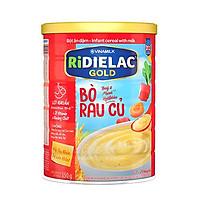 BỘT ĂN DẶM RIDIELAC GOLD BÒ RAU CỦ - HỘP THIẾC 350G