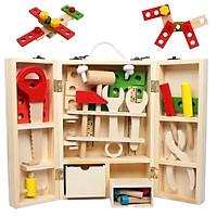 Bộ đồ chơi hộp dụng cụ bằng gỗ cho bé trai