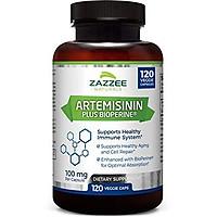 Zazzee Artemisinin, 100 mg per Capsule, 120 Veggie Capsules, 4 Month Supply, Plus 5 mg BioPerine for Enhanced Absorption, Sweet Wormwood Extract, Vegan and Non-GMO
