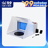 Portable Professional Airbrush Spray Booth Kit Airbrush Extractor Exhaust Filter Paint Kit for Model Crafts